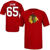 Andrew Shaw Chicago Blackhawks Reebok Name and Number Player T-Shirt – Red