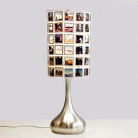$225.00 CUSTOM Droplet Table Lamp with Lampshade made from Your Slides by RachelReynoldsDesign on Etsy