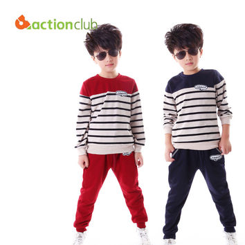 Boys Casual Striped Clothing Set