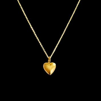 Puffed Heart Pendant Necklace