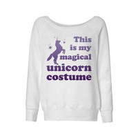 Magical Unicorn Costume Wideneck Sweatshirt
