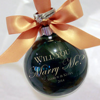 Christmas Proposal, Marry Me, Unique Wedding Proposal, Custom Christmas Ornaments, Personalized Christmas Ornaments, Will you marry me?