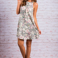 On The Lookout Dress, Gray