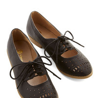 ModCloth Vintage Inspired Easier Than You Chic Flat