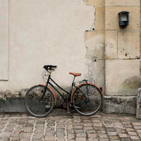 Paris Bicycle photography  Beige Brown Black French by Raceytay