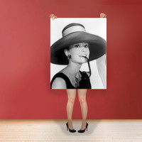 Audrey Hepburn - Classic Print Poster Hollywood's Golden Age style Wall Art