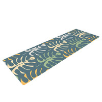 "Julia Grifol ""My Leaves on Blue"" Yoga Mat"