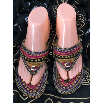 Embroidered Gypsy Slipper