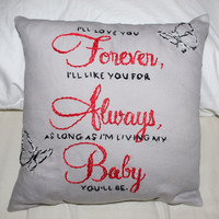 Baby Pillow, Embroidered Baby Pillow, Custom Baby Pillow, Baby Bedding, Pregnancy Pillow, Personalized Pillow, Nursery Decor, Baby Gift