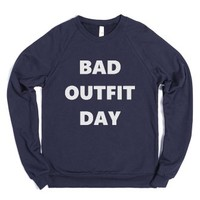 Bad Outfit Day Sweater-Unisex Navy Sweatshirt