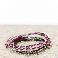 AEO Sparkle Braided Bracelet Set | American Eagle Outfitters