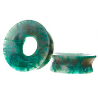 "Build Your Mermaid Chrysocolla Stone Plugs (2g-3"")"