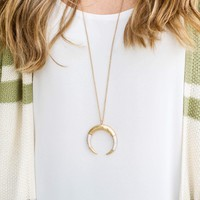To The Moon Necklace - Gold