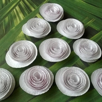 embossed white Roses Loose table decoration Winter wedding Bridal Shower Decor Mini Flower Bouquet home decor Baby nursery party decoration