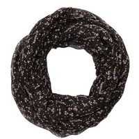 Floral Print Infinity Scarf by Charlotte Russe - Black Combo
