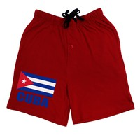 Cuba Flag Cuban Pride Adult Lounge Shorts  by TooLoud