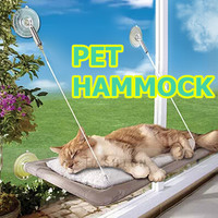 Hot Sale! Practical New Window Mount Pet Beds Machine Washable Cover Sunny Seat Novel Cat Bed 302-0506