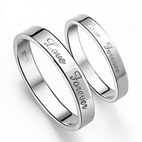 Silver Plated Platinum .925 Sterling Silver Couples Ring for Men's Jewelry-Size 11