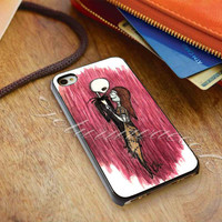 nightmare before christmas jack and sally - for iPhone 4/4s, iPhone 5/5S/5C, Samsung S3 i9300, Samsung S4 i9500 *ojoturuwaecok*