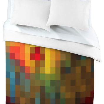 Madart Inc. Glorious Colors Duvet Cover, King - contemporary - duvet covers -  - by DENY Designs