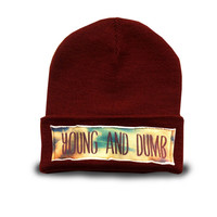 YOUNG AND DUMB beanie