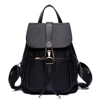 Canvas Tassel Simple Casual Backpack Totes