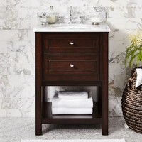 Classic Single Mini Sink Console - Espresso finish