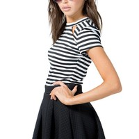 Luxe Quilted Skater Skirt