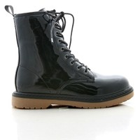 Outcast Patent Boots | Edgy Boots at Pink Ice