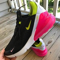 Nike Air Max 270 third-generation shoes Half Palm Air Cushion Mesh Surface Breathable men's and women's casual sports shoes 2