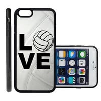 RCGrafix Brand Volleyball Love Heart Volleyball Player Apple Iphone 6 Plus Protective Cell Phone Case Cover - Fits Apple Iphone 6 Plus