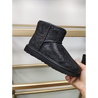 UGG  Trending Women's men Leather Side Zip Lace-up Ankle Boots Shoes High Boots