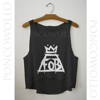 Fall Out Boy tank top,  Logo, Fall Out Boy shirt