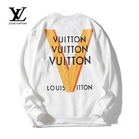 LV Louis Vuitton Autumn and winter casual wild long-sleeved cotton round neck sweater