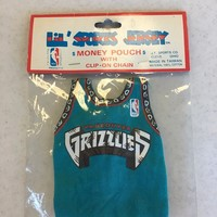 VINTAGE VANCOUVER GRIZZLIES COIN POUCH BACKPACK ACCESSORY KEYCHAIN SHIPPING