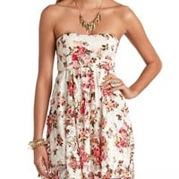 BOW-BACK FLORAL LACE SKATER DRESS