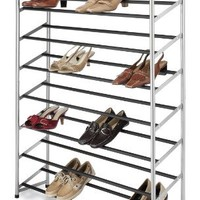 Whitmor 6705-3945 Silver Epoxy Metal Shoe Tower, 40-Pair