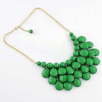 Green Waterdrop Pendant Necklace