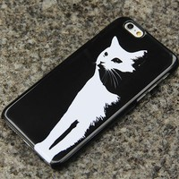 White Cat iPhone XS Max 6s Case Adorable iPhone XS Max plus iPhone 8  Samsung Galaxy S8 S6  S3 Note 3 Case Animal Print 016