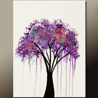 Abstract Landscape Canvas Art Painting 18x24 Original Contemporary Modern Tree Paintings  by Destiny Womack - dWo - When the Rain Falls