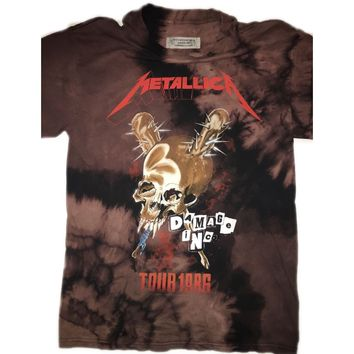 "Hand Bleached Metallica ""Damage Tour"" Band Tee"