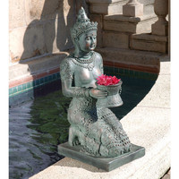 "29"" Meditation and Peace Feng Shui Zen Thai Princess Asian Garden Sculpture- Free Shipping"