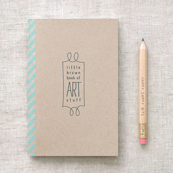 Sketchbook & Pencil Set Mini Recycled  Little by HappyDappyBits