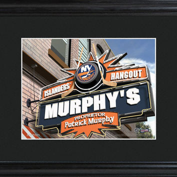 NHL Pub Print in Wood Frame - Islanders