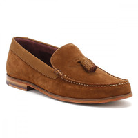 Ted Baker Mens Tan Nubuck/Suede Dougge Shoes