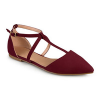 Journee Collection Keiko Ankle-Strap Ballet Flats - JCPenney