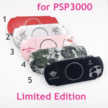 Camo Hello Kitty Limited Edition Housing Shell Case Cover replacement for PSP3000 PSP 3000 Gamepad Shell Cover Case Faceplate