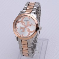 GUESS New Fashion Dial Cross Luxury Quartz Watch Woemn And Men Casual Wristwatch