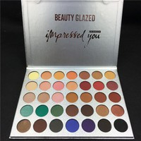 BEAUTY GLAZED 35 Colors Shades Eyeshadow Palette Diamond Jacly Hill Rainbow Earth Warm Color Shimmer Matte Eyeshadow Pallete