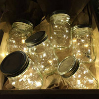 Firefly Lights with Mason Jar, Wedding Lights, Outdoor Lightning, Jar Lamp, Fairy Lights, Mason Jar Light, Firefly, Canning Jar Light